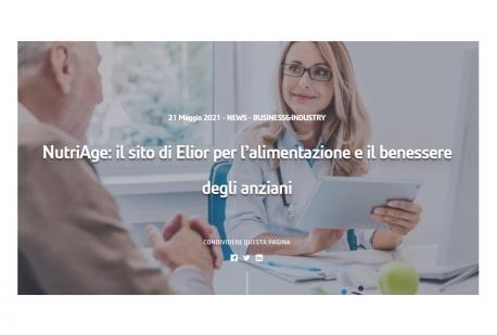 NutriAge: il progetto di Elior per l'alimentazione e il benessere degli anziani