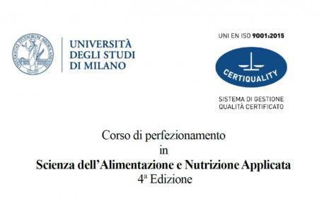 Corso di Perfezionamento in Scienza dell'Alimentazione e Nutrizione Applicata