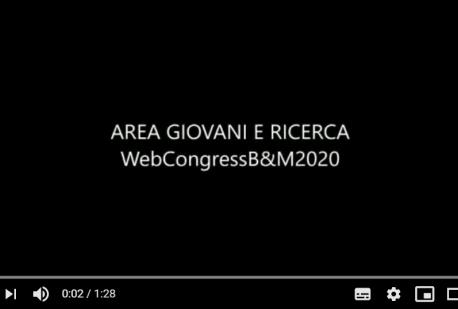 Area giovani e Ricerca Web Congress B&M 2020