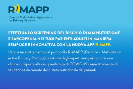 La nuova App R-MAP: effettua lo screening del rischio di malnutrizione e sarcopenia