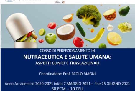 Corso di perfezionamento in Nutraceutica e Salute Umana: aspetti clinici e traslazionali