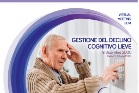 'GESTIONE DEL DECLINO LIEVE' Virtual meeting ECM organizzato da NUTRICIA