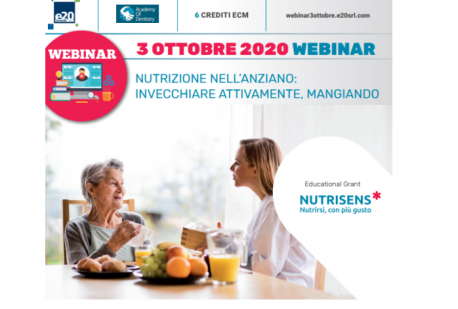 Webinar 3 Ottobre- Nutrizione nell'anziano: invecchiare attivamente, mangiando